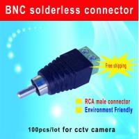Quality RCA Male connector RCA plug to screw terminal for CCTV Camera cctv camera for sale