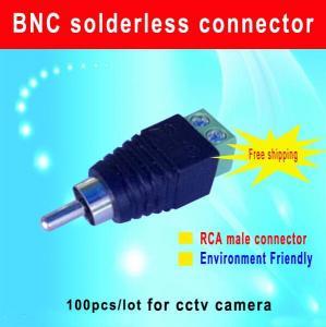 China RCA Male connector RCA plug to screw terminal for CCTV Camera cctv camera accessory wholesale