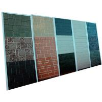 China Durable Metal Carved PU Foam Sandwitch Wall Panel With 3800x380x16mm Size wholesale