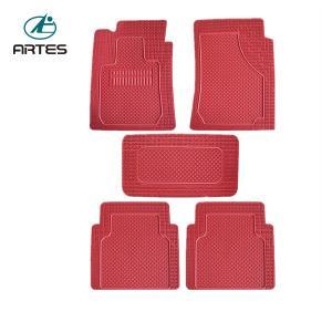 China Red Color Custom Floor Mats For Trucks , Universal Size Custom Vehicle Floor Mats on sale