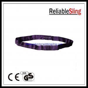 China Flat / Round Shape Purple polyester lifting slings safety Low elongation on sale