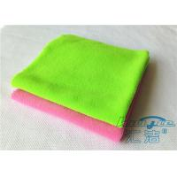 Durable Green Microfiber Cleaning Cloth 100% Polyester , Endless Edge