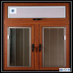 Aluminium Sliding Window Aluminium Window Extrusions With Mosquito Screen / Vertical Aluminum Louvers