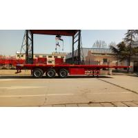China Cargo Container Platform Semi Trailer With Howo Heavy Duty Chassis And Twist Locks wholesale
