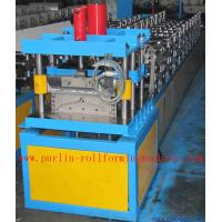 China Corrugated Color Steel Roof Ridge Cap Roll Forming Machine , Trapezoidal Profile Roll Former wholesale