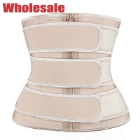 China 3XS Nude Waist Cincher Latex 3 Belts Waist Trainer For Back Posture wholesale