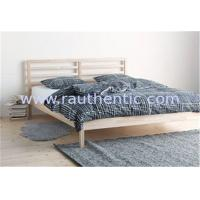 China Traditional Wood Frame Bed Queen Size With Slatted Bed Base OEM Avaliable wholesale