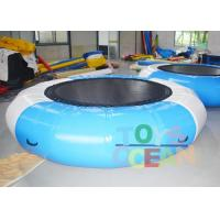 China 0.9MM PVC Bule / White Inflatable Jumping Water Trampoline For Water Sport Game wholesale