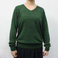 China Cashmere Ladies V Neck Sweaters / Big Sizes Womens Cotton Sweaters wholesale