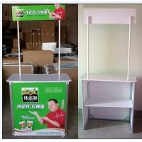 Quality Trade Show Promotional Display Counter Kiosk Banner Stand Full Color Printing for sale