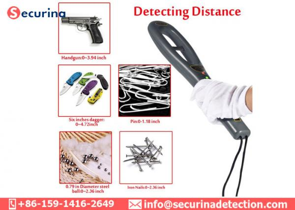 Quality Vibration Alarming 40hrs 60mm Pin Portable Security Wand 22KhZ GC-101H for sale