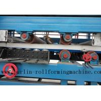 China Colored Steel PU Sandwich Panel Production Line , Roof Panel Roll Forming Machine wholesale