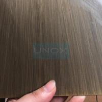 China 304 Hairline + Bronze color stainless steel sheet -Copper Plating Stainless Steel Decor Sheets wholesale