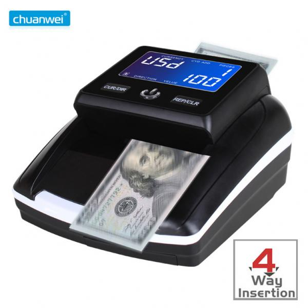 Quality UV Light Counterfeit Money Detector USD Fake Currency Checking Machine Banknote VND for sale