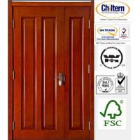 China Solid wooden door/Timber door/ Wood door on sale