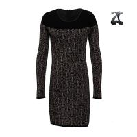 China Crew Neck Womens Long Sweater Dresses Long Sleeve With Hidden Zipper For Winter wholesale