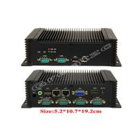 China ATOM Dual Ethernet Lan Ports Mini PC Fanless Industrial Computer 6 RS232 COM Ports wholesale