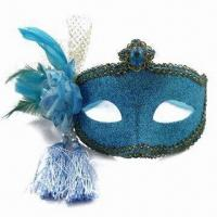 China Blue Mask with Glittery Appearance, Made of Plastic wholesale