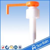 China Orange & white long nozzle plastic 28mm lotion pump for medical use wholesale