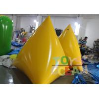 Quality Durable Inflatable Water Game 2M Yellow Floating Inflatable Pyramid Water Buoy for sale
