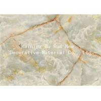 China Fashionable Stone Contact Paper Film , Faux Marble Vinyl Film No Bubbles wholesale