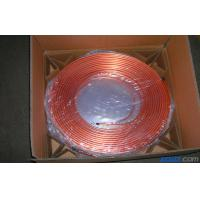 China T2 Split Air Conditioner Coil , Oval Mill Polished Copper Pipe Coil H60 wholesale