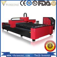 China Raycus IPG carbon steel/stainless metal sheet cnc fiber laser cutting machine for sale. TL1530-1000W THREECNC wholesale