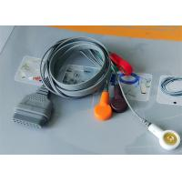 China Snap Electrode Ecg Accessories Holter Cable 5 Leads For Patient Use wholesale