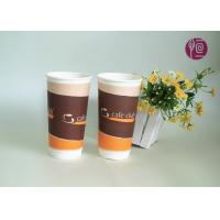 China 20oz Eco Friendly Paper Cups , Double Wall Take Away Paper Cup With Lid wholesale
