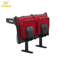 China Upholstery Fabric University Steel Book Holder College Classroom Seating With Writing Desk wholesale