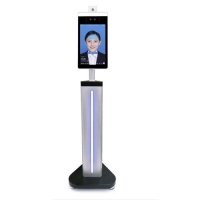 China AI Face Recognition Camera Body Floor Standing Temperature Scanner wholesale