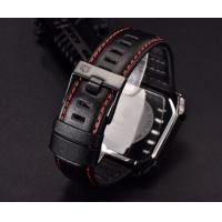 Wholesale Creative Men Genuine Leather Strap Waterproof 30m Square Dial Casual Wrist Watches BY-5116