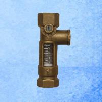 Quality High Accurate Brass Mechanical Flow Meter Direct Reading For Balancing Valve for sale