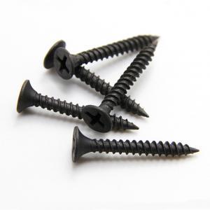 China DIN18182 Black Grey Self Drilling Screws / Phosphated Bugle Head Coarse Thread Drywall Screw wholesale