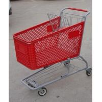China 180L Metal Chassis Supermarket Shopping Carts Plastic 1030 x 575 x 1015mm wholesale