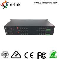 China 16 Channel AHD CVI TVI Over Fiber Converter Single Mode Or Multimode wholesale