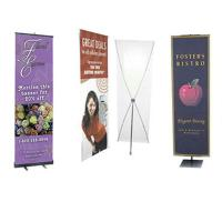 Advertising graphic banner stand Trade Show Display X Banner Stand With PVC
