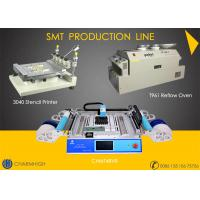 Buy cheap Advanced SMT Production Line, 3040 Stencil Printer / CHMT48VB Pnp machine / Reflow Oven T961 from wholesalers