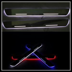 China Car LED door sill plate light for Toyota Corrola RAV4 LED Door Sill LED moving door scuff wholesale