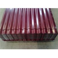 China Color Coated Corrugated Aluminum Sheet Thickness 0.2 - 1mm Customized Width wholesale