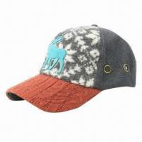 China Winter cap with embroidery wholesale