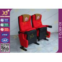China Push Back Function Folding Theater Chairs Removable Legs Movie Seating For Auditorium wholesale