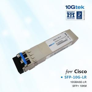 China Cisco Transceiver SFP-10G-LR, Cisco 10GBASE-LR SFP+ transceiver module for SMF, 1310-nm wavelength on sale
