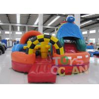 China Kids Customized Airplane Inflatable Bouncer Combo With Slide PVC Tarpaulin wholesale