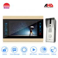 China Morningtech AHD Touch Screen Video Door Phone with record Max support 32G Can  watch movies by indoor monitor wholesale