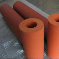 Quality 260C 235mm Length Heat Transfer Machine Red Silicone Rubber Roller for sale