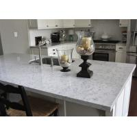L Shape Natural Marble Kitchen Worktops / Honed Stone Countertops