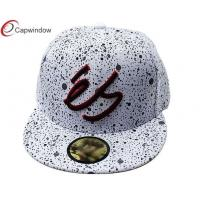 China Customized Snapback Cotton Baseball Caps 3D Embroidery with Spot Printings wholesale