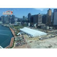 China 35m width Aluminum StructureTFS Tent Hire With White PVC Fabric Fireproof wholesale