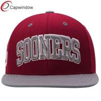 Quality Red Sports Sooners Adjustable Snapback Hat , Custom Strapback Hats  for sale